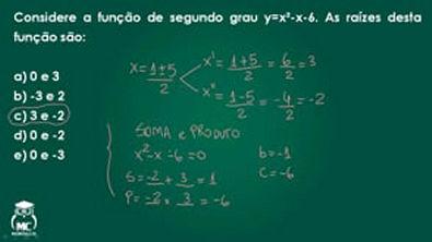 Função quadrática 2 - Introdução ao cálculo - Questão 04