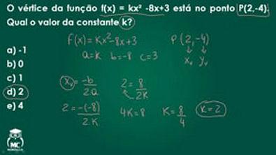Função quadrática 2 - Introdução ao Cálculo - Questão 05