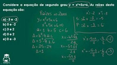 Função quadrática 2 - Introdução ao Cálculo - Questão 06