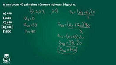 Progressão aritmética - Questão comentada 03