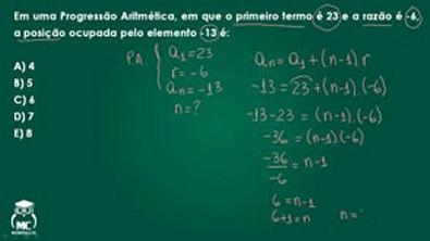 Progressão aritmética - Questão comentada 04