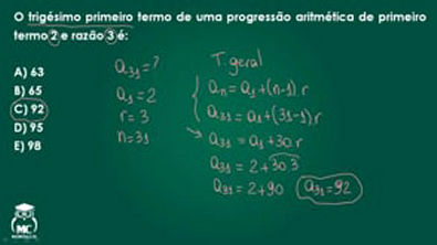 Progressão aritmética - Questão comentada 06