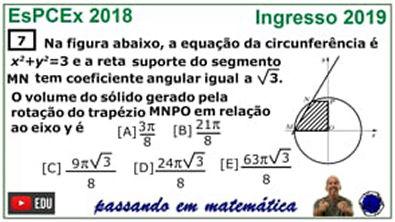 Volume do Tronco do Cone - Concurso da EsPCEx 2019