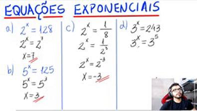 EQUAÇÕES EXPONENCIAIS (5 Exemplos) ✍