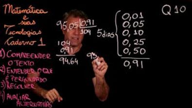 Questão 10 Caderno 1 Só ENEM Matemática