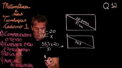 Questão 12 Caderno 1 Só ENEM Matemática
