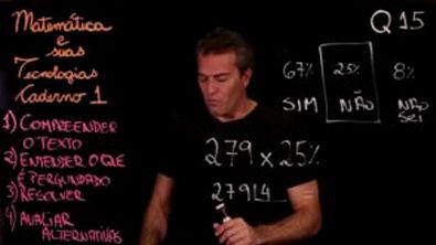 Questão 15 Caderno 1 Só ENEM Matemática