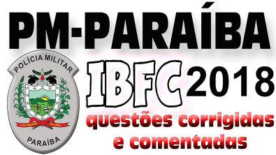 Polícia Militar Paraíba - Banca IBFC 2018