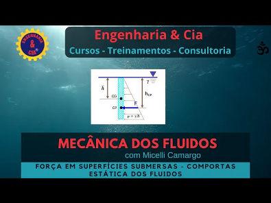 #13 Comporta Plana: Forças em Superfícies Planas Submersas | Estática dos Fluidos | Micelli Camargo