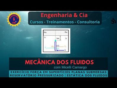 #15 Exercício 2 Comportas em Reservátorio Pressurizado | Estática dos Fluidos | Micelli Camargo