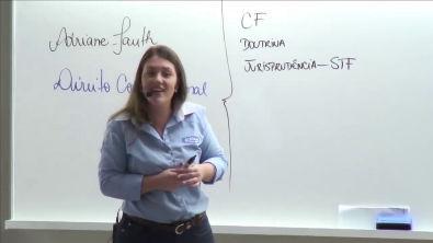 Aula de direito constitucional, princípios fundamentais parte 01 Adriane Falth
