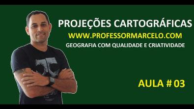 Vídeo Aula Projeções Cartográficas www professormarcelo com