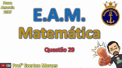 EAM 2017 - Questão 29 - Teorema de Pitágoras