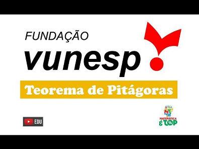 Questão 25 - Câmara Municipal de São José dos Campos - Vunesp - 2018 - Teorema de Pitágoras