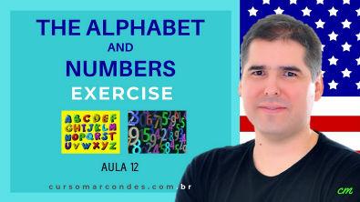 Exercícios Alphabet and Numbers - Curso Completo de Inglês | Inglês Básico - Aula 12