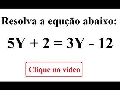 Aprenda a resolver equações do primeiro grau