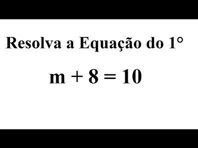 Equação do 1°
