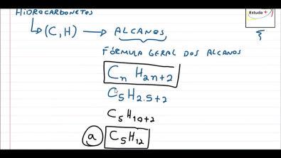 Fórmula geral dos alcanos para descobrir o número de hidrogênios em uma molécula