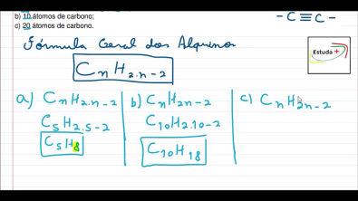 Fórmula geral dos Alquinos