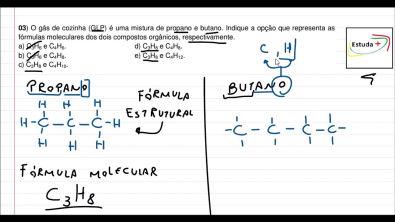 Fórmula molecular do propano e butano