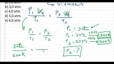 Calculando a pressão de um gás - Isocórica ou Isovolumétrica