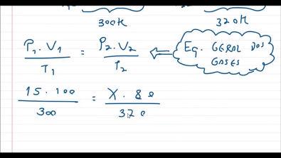 Como calcular a pressão pela Equação Geral dos gases