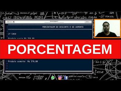 PORCENTAGEM #3 - SAIBA CALCULAR OS DESCONTOS E AUMENTOS DAS MERCADORIAS