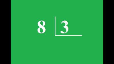 Quanto é 8 dividido por 3?