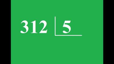 Quanto é 312 dividido por 5 ?