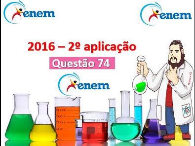 Enem 2016 - Questão 74: prova Rosa 2ª aplicação