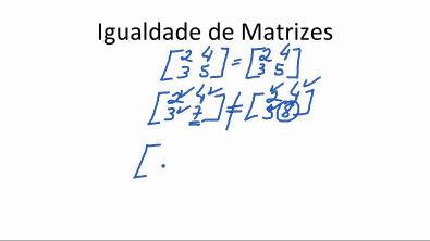 Matemática Igualdade de Matrizes