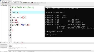 Programação - Criando uma variável C