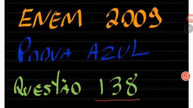 Prova 2009 - Questão 138