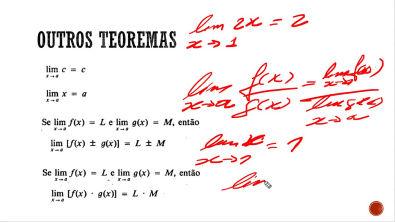 Cálculo Diferencial e Integral - Teoremas sobre Limites