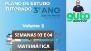 PET Volume 5   3º ano Ensino Médio   Semanas 3 e 4   Matemática   Correção das atividades