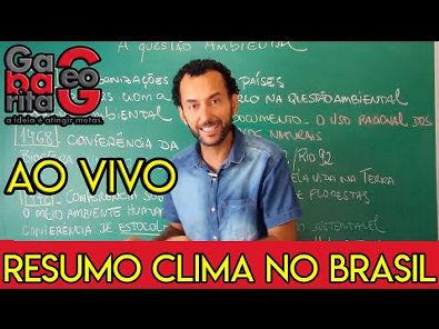 Aula para o ENEM 2019 | Resumo Clima no Brasil