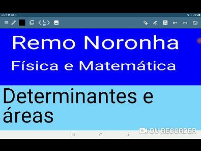 Como calcular areas usando determinantes?