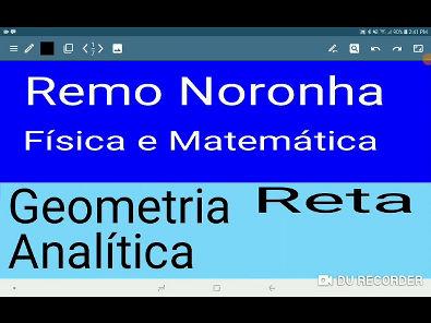 Reta Geometria Analítica