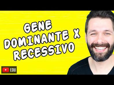 GENE DOMINANTE E RECESSIVO - DIFERENÇAS - Genética   Biologia com Samuel Cunha