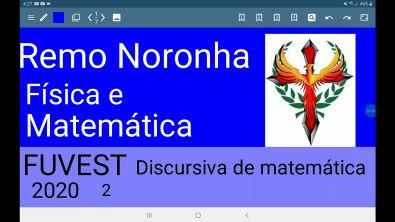 FUVEST 2020 discursiva de matemática questão 2