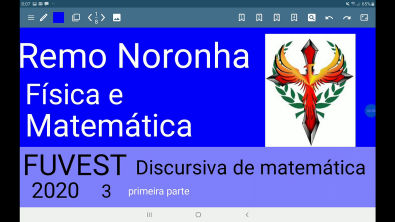 FUVEST 2020 discursiva de matemática questão 3 parte 1