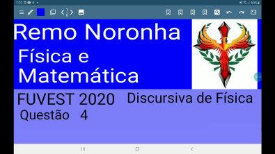 FUVEST 2020 discursiva de física questão 4