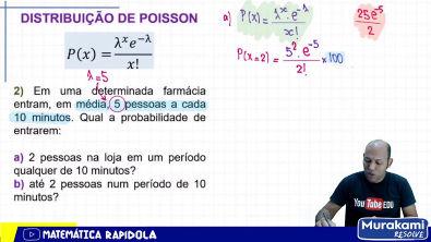 DISTRIBUIÇÃO DE POISSON DE PROBABILIDADE # 02