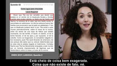 Correção Questão Nº 2 Prova ENEM 2019 - Dia 1   Caderno Laranja   Espanhol