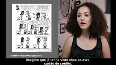 Correção Questão Nº 3 Prova ENEM 2019 - Dia 1   Caderno Laranja   Espanhol
