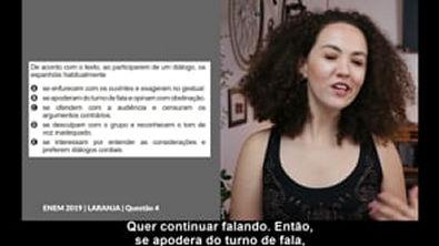 Correção Questão Nº 4 Prova ENEM 2019 - Dia 1   Caderno Laranja   Espanhol
