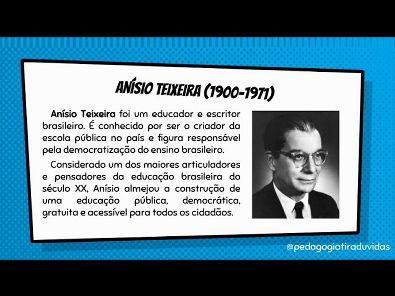 Quem foi Anísio Teixeira?