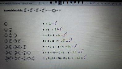 6. Triângulo de Pascal e propriedades - 2/5