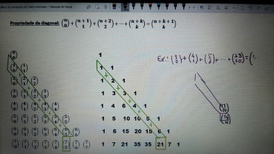 8. Triângulo de Pascal e propriedades - 4/5
