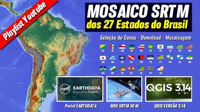 Mosaico SRTM dos 27 Estados do Brasil - Acre-AC - Parte 01/11
